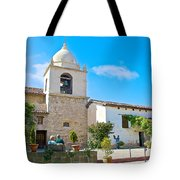 Bell Tower  In Carmel Mission-california  Tote Bag