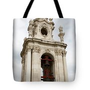 Bell Tower With Red   Tote Bag