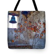 Bell Wall And Eastern Wall Of Serra Chapel In Sacred Garden Mission San Juan Capistrano California Tote Bag