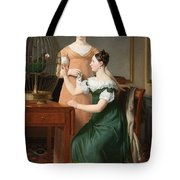 Bella And Hanna. The Eldest Daughters Of M.l. Nathanson Tote Bag