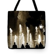 Bellagio Fountain At Night Tote Bag