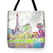 Bellagio Fountains Tote Bag