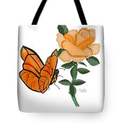 Belle And Flower Tote Bag