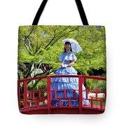 Belle On Red Bridge Tote Bag