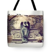 Bellefontaine Angel Polaroid Transfer Tote Bag by Jane Linders