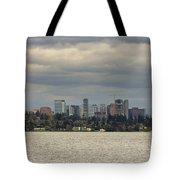 Bellevue Skyline Along Lake Washington Tote Bag