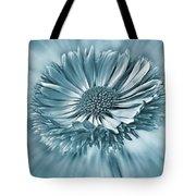 Bellis In Cyan  #flower #flowers Tote Bag