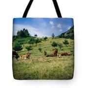 Bells And Cows Tote Bag