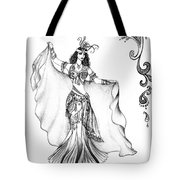 Belly Dancer With Veil. Friend Of Ameynra Tote Bag