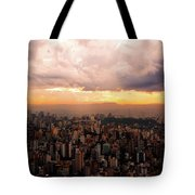 Belo Horizonte - The Cityscape From Above Tote Bag
