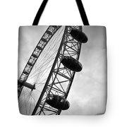 Below London's Eye Bw Tote Bag