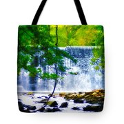 Below The Waterfall Tote Bag