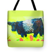 Belted Galloway Cow Looking At You Tote Bag