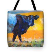 Belted Galloway Cow Side View Tote Bag