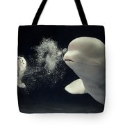 Beluga Delphinapterus Leucas Whale Tote Bag by Hiroya Minakuchi