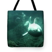 Beluga Whale 2 Tote Bag