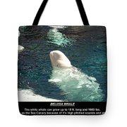 Beluga Whale Poster Tote Bag