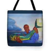 Ben And The Dolphin Fish Tote Bag