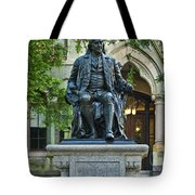 Ben Franklin At The University Of Pennsylvania Tote Bag