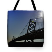 Ben Franklin Bridge 2 Tote Bag