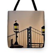 Ben Franklin Bridge In Early Morning Tote Bag