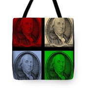 Ben Franklin In Colors Tote Bag