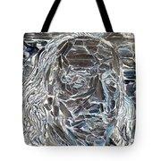 Ben In Wood Negative Art Tote Bag