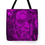 Ben In Wood Purple Tote Bag