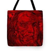 Ben In Wood Red Tote Bag