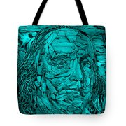 Ben In Wood Turquoise Tote Bag