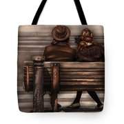 Bench - A Couple Out Of Time Tote Bag