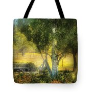 Bench - I Had This Dream And It All Began Tote Bag