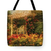 Bench - The Rose Garden Tote Bag
