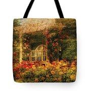 Bench - The Rose Garden Tote Bag