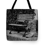 Bench And Boot 1 Tote Bag by Michael Colgate