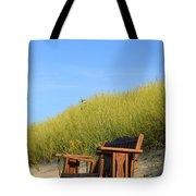 Bench At The Beach Tote Bag