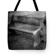 Bench By The Barn Tote Bag