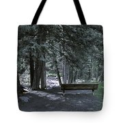 Bench By The Stream II Tote Bag