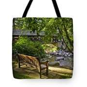 Bench By The Stream IIi Tote Bag