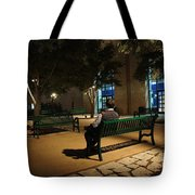 Bench For Reflection In The Night Tote Bag