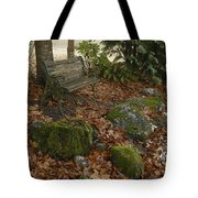Bench In Fall Tote Bag