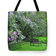 Bench In Lillacs Tote Bag