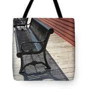 Bench Lines And Shadows 0862 Tote Bag
