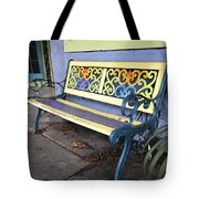 Bench Of Color Tote Bag