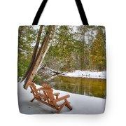 Bench Of Solitude Tote Bag