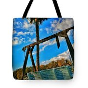 Bench On The River Tote Bag