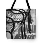 Bench Shadows Tote Bag