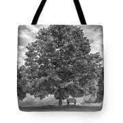 Bench Under A Tree Tote Bag