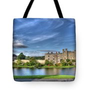 Bench View Of Leeds Castle Tote Bag