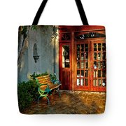 Benched In Fairhope Alabama Tote Bag